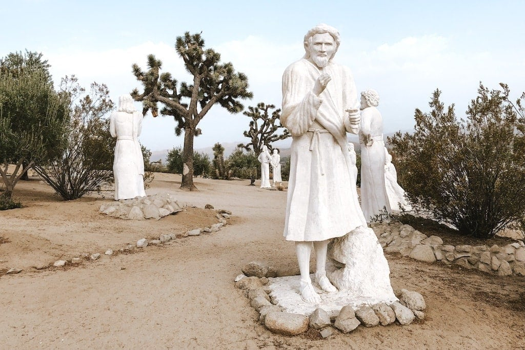 Desert Christ park in Yucca Valley near Joshua Tree