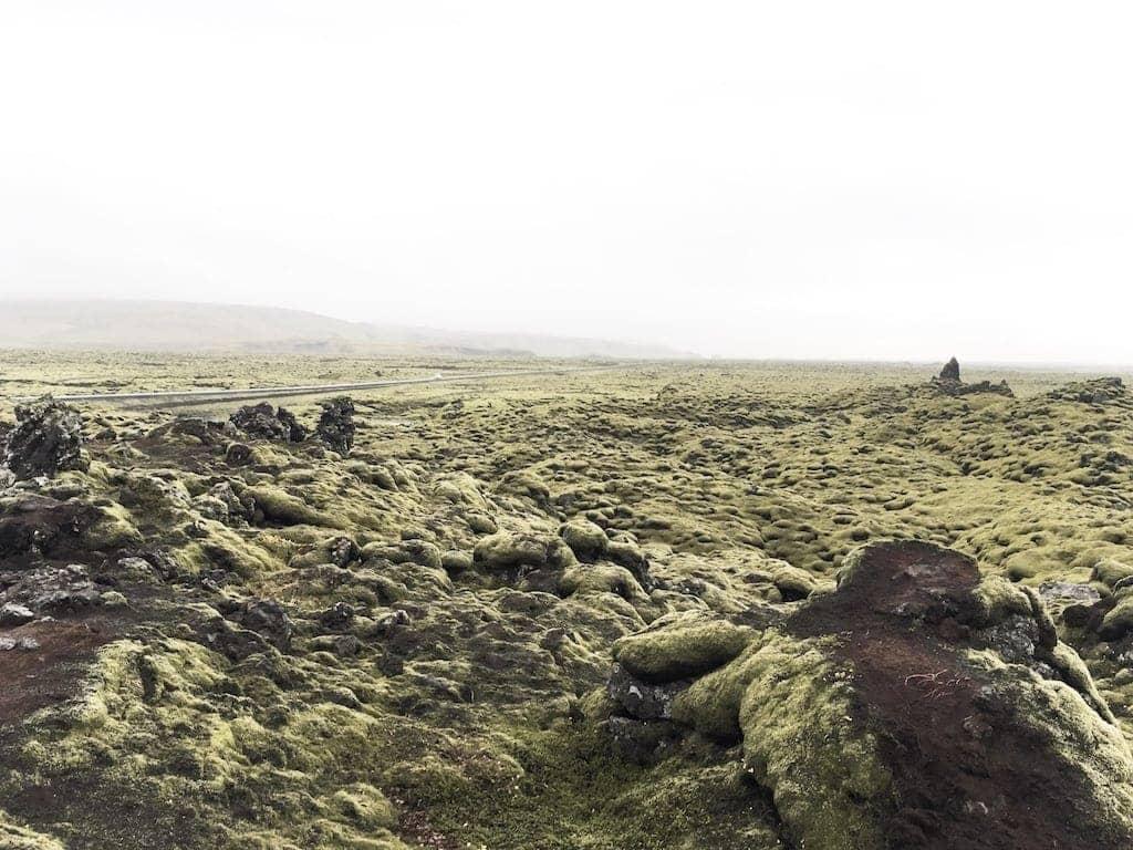 Iceland's Ring Road Eldhraun lava fields