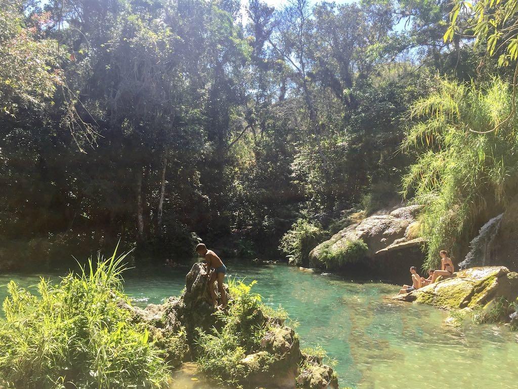 El Nicho Waterfall outside of Trinidad Cuba