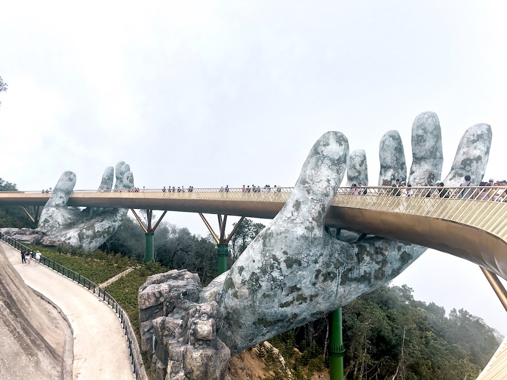 Golden Bridge at Sun World Ba Na Hills Vietnam
