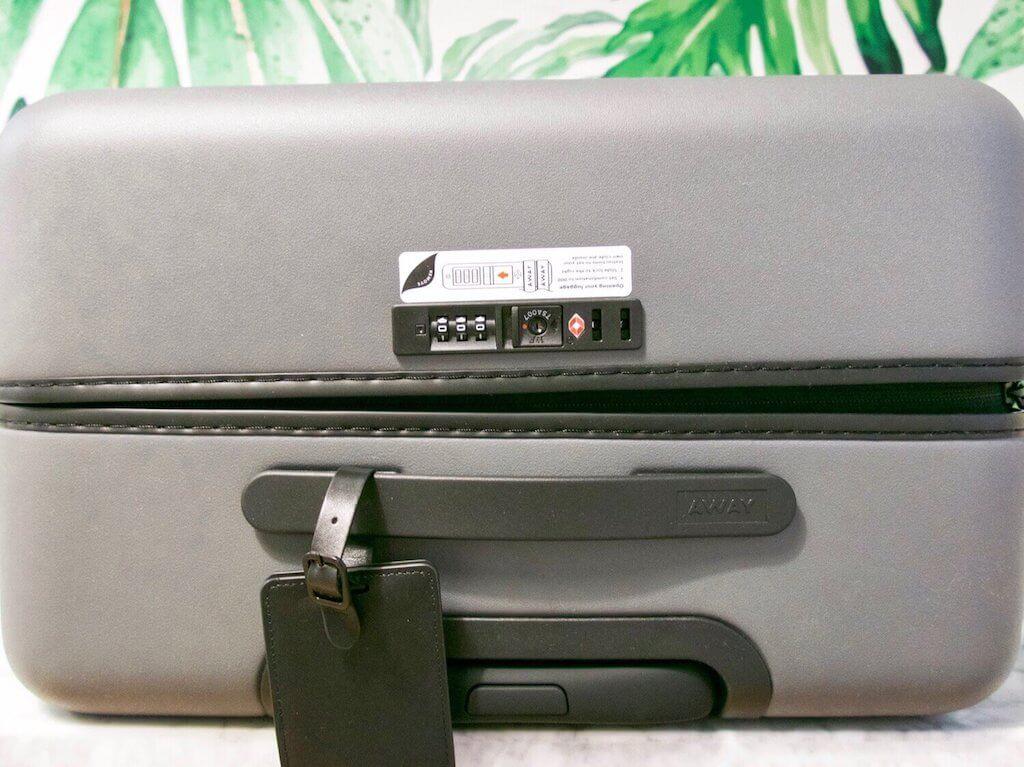 away luggage review tsa lock
